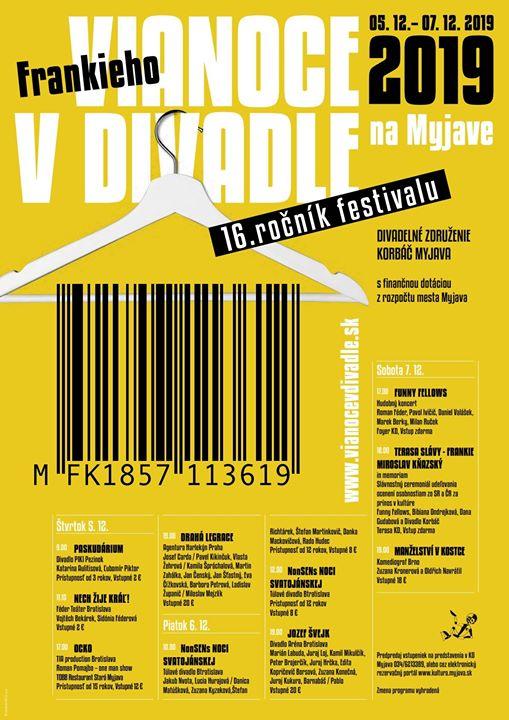 Frenkieho Vianoce v divadle 2019 - divadelný festival Myjava